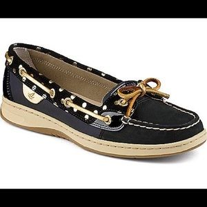 Sperry Top-Sider: Angelfish foil dot navy